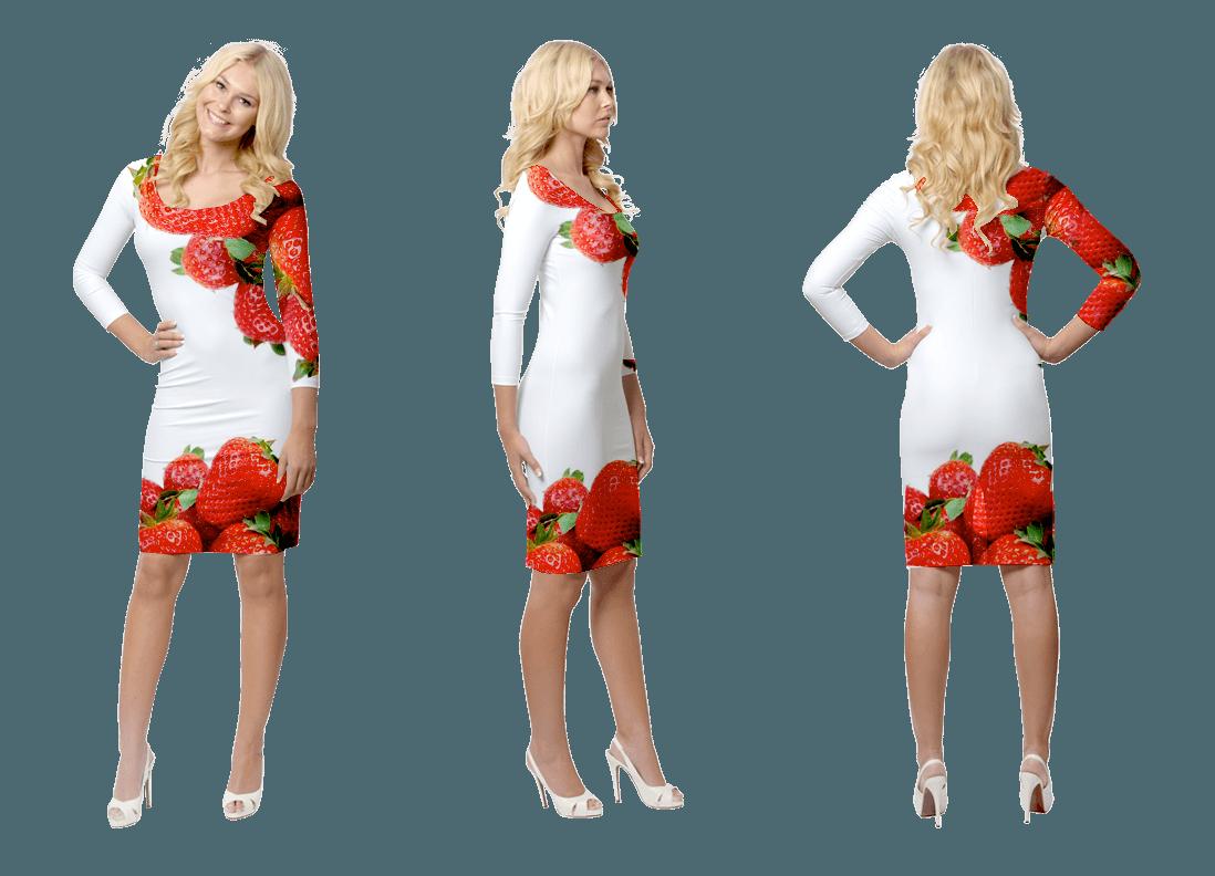 Promotiekleding met aardbeienprint